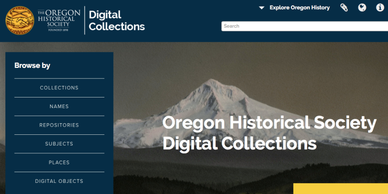 OHS digital collections screenshot